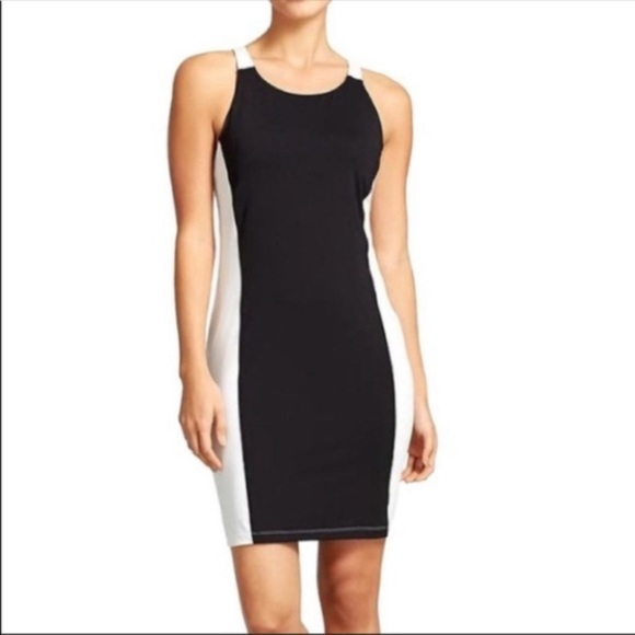 Athleta Color Block Dress Racerback Black Small